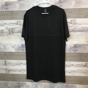 Forever 21 Oversized Black Tee Dress Size Small
